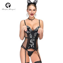 Minifaceminigirl Sexy Polk Dot Bustiers Women Black White Lace Corsets And Up Firm Female Corset Lingerie Bustier