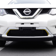 цена на ABS Chrome FOR Nissan X-Trail Rogue T32 2014 2015 2016 Bumper Front Lower Grille Grill Air Cover Trims Styling Car Accessories