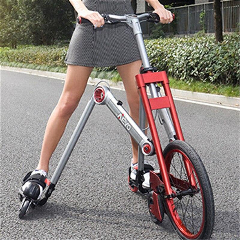 Nueva marca de segunda generación de 3 ruedas patinaje bicicleta mantis coche creativo bicicleta adulto amortiguación scooter bicicleta plegable