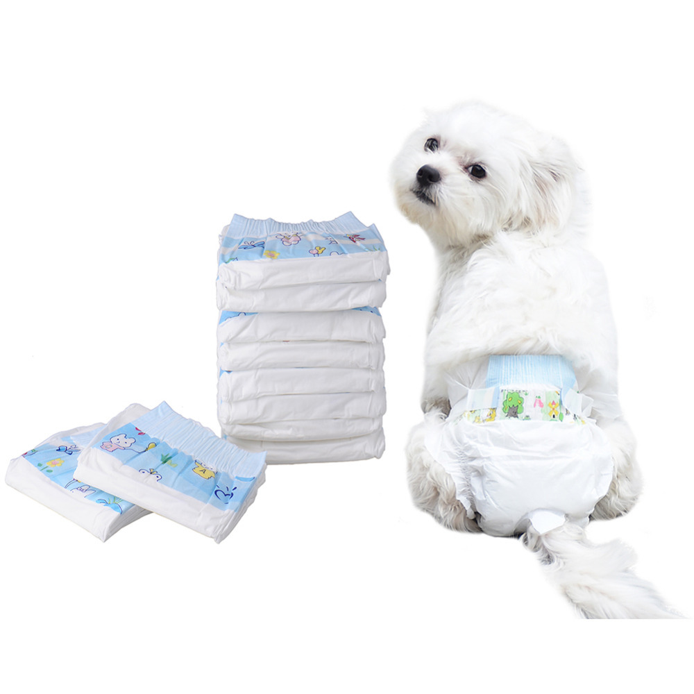 10pcs Super-absorbent Pet Diapers Dog Health Pants Dry and Breathable Nappy Packs Dog supplies Newest 2017