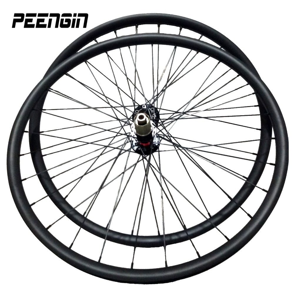Ultra light carbon wheels for mtb mountain parts 27.5er strong rim disc brake bike wheelsets Novatec hub Thru axle Rear 145X10mm|Bicycle Wheel| |  - title=