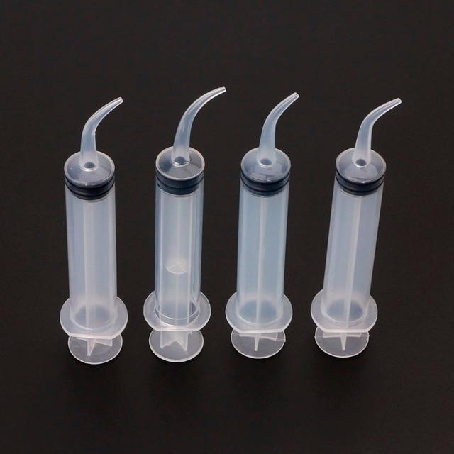 Jeringa de riego Dental transparente desechable Poseida 4 unids/set con punta curva 12cc cuidado Dental