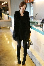 Free Shipping New Design Women's Long Nature real genuine Fox Fur vest Warm Coat  Women jacket custom big size 80-120bust