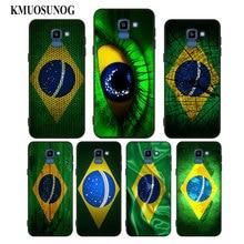 For Samsung Galaxy j8 j7 j6 j5 j4 j3 Plus Prime 2018 2017 2016 Black Silicone Phone Case Brazil Brazilian flag Style мара монахова если хочешь остаться
