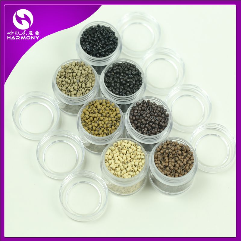 2.9x1.6x2.0mm Copper Silicone Nano Rings Beads Links nano hair extension tools 7 Colors available 3500pieces/lot