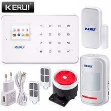 New arrival! kerui app ios android klawiatura + wyświetlacz lcd ekran 99 bezprzewodowy alarm gsm sms home security włamywacz domu