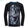 Fashion Kid T-shirt for Boys Clothes T-shirt 3d Printed T-shirts Men Cotton Animal Tiger Funny Big Boys Tops14 16 18 Years Old