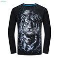 Moda T-shirt do Miúdo para Meninos Roupas T-shirt 3d Impresso Camisetas Homens algodão Animais Tigre Engraçado Big Boys Tops14 16 18 Anos de Idade