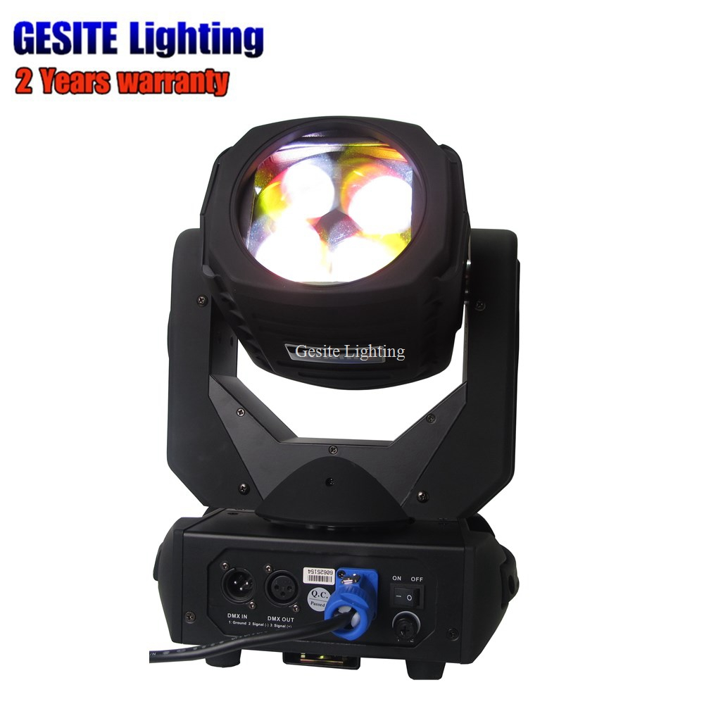 4pcs/lot 4x25w color Stage Lighting LED Super Beam Spot Light moving head light