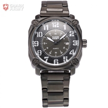 Shark Army Luxury Brand Auto Date Display Stainless Steel Strap Analog Quartz Sports Military Men Fashion Casual Watches /SAW138