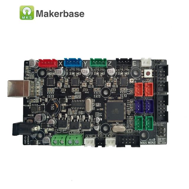 MKS MINI V2.0 diy starter kit intégré carte mère 3D Imprimante carton compatible Rampes 1.4 unique extrudeuse livraison lit impression