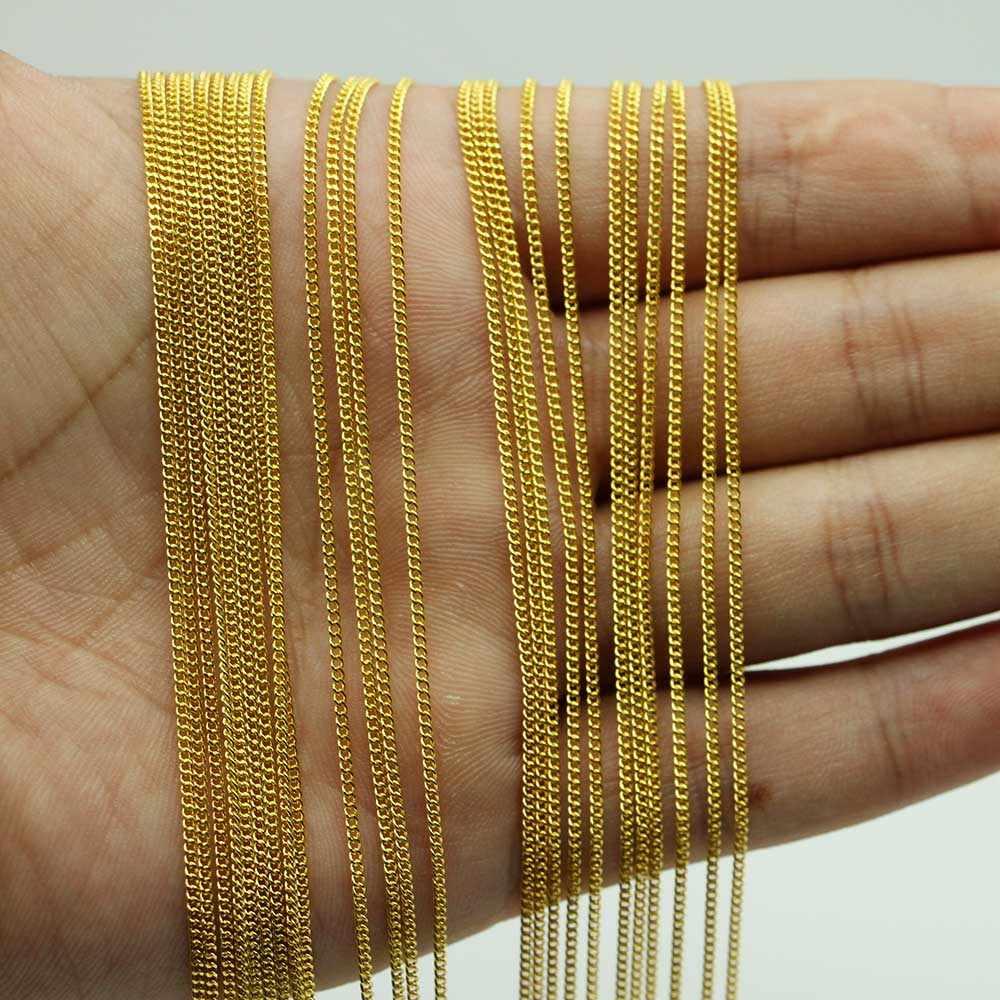 เงินทองกุ้งก้ามกราม 12 ชิ้น/แพ็ค 45 ซม.สร้อยคอโซ่จำนวนมากสำหรับ DIY วัสดุเครื่องประดับขายส่ง