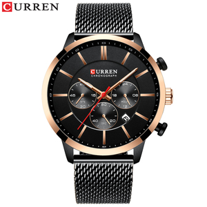 Image 4 - CURREN Luxury Brand Fashion Quartz Clock Mens Watch Causal Sport Watches Men Chronograph and Date Wristwatch with Steel Mesh