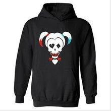 DC Suicide Squad black Harley Quinn Hooded Mens Hoodie in Super Hero Mens Hoodies and Sweatshirts Autumn winter plus Size 4XL