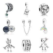 9ecece220 Original nuevo envío gratis Chapado en plata de viaje de vacaciones de  Navidad del encanto Fit pulsera de Pandora DIY collar de .