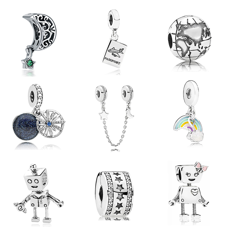 Jewelry & Accessories Initiative Soulbead 925 Sterling Silver Austrian Crystal Charm Beads Fit Pandora Bracelet Chain Necklce And Charm Bracelet For Gifts