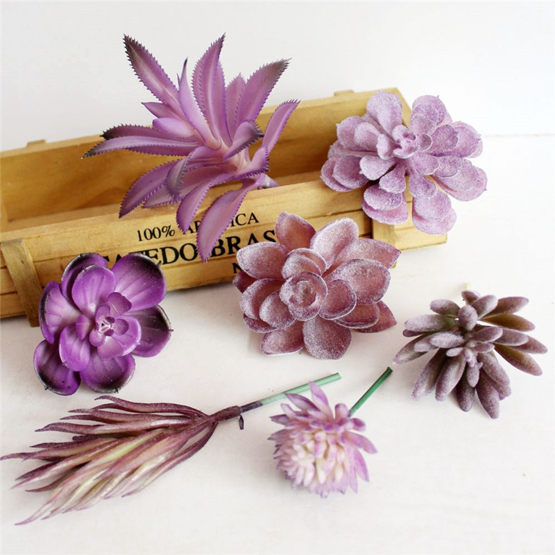 Kunstmatige vleezigheid Cactus paarse plant real touch palm bonsai - Feestversiering en feestartikelen