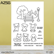 AZSG Quiet View / Lovely Animals Clear Stamps/Seals For DIY Scrapbooking/Card Making/Album Decorative Silicone Stamp Crafts