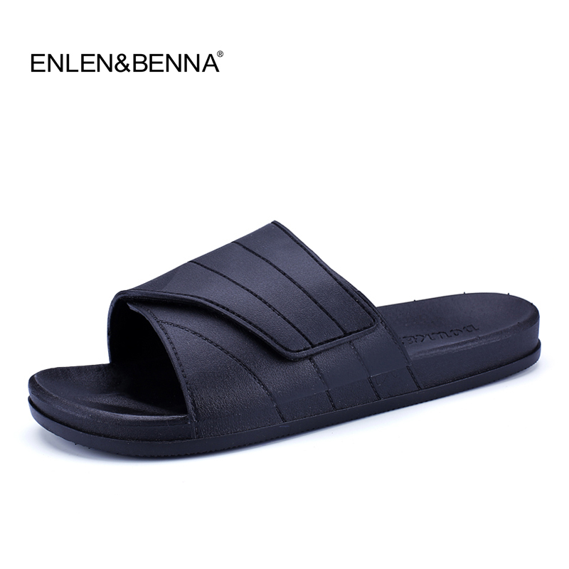 New 2017 Summer Slippers Men Casual Sandals Leisure Soft Slides Eva Massage Beach Slippers Water Shoes Men's Sandals Flip Flops стоимость