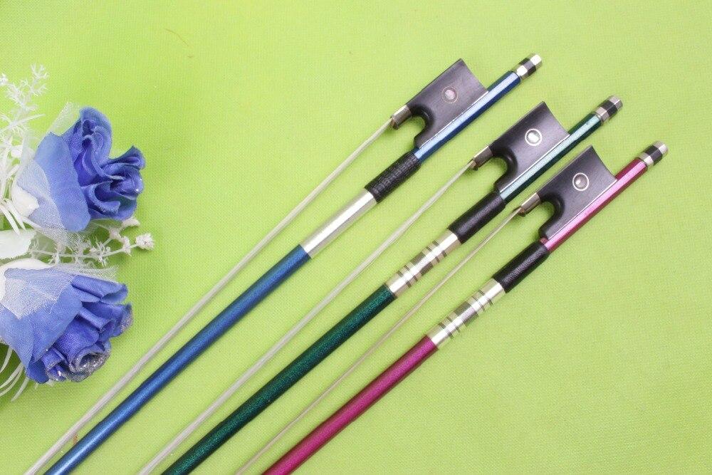 Nouveau bleu brillant Fiber de carbone violon arc 4/4 équilibre droit 59.7g 733mm #1221