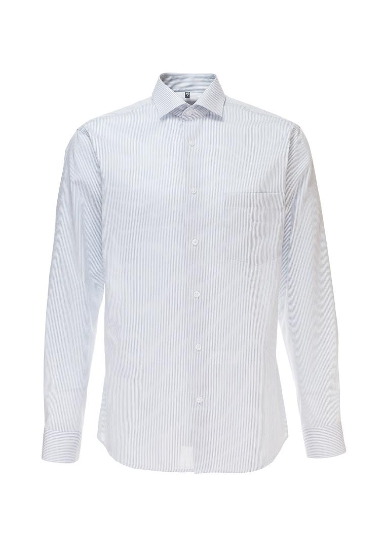 Shirt men's long sleeve GREG Gb311/131/530/Z Gray plus size bird and floral print v neck long sleeve t shirt