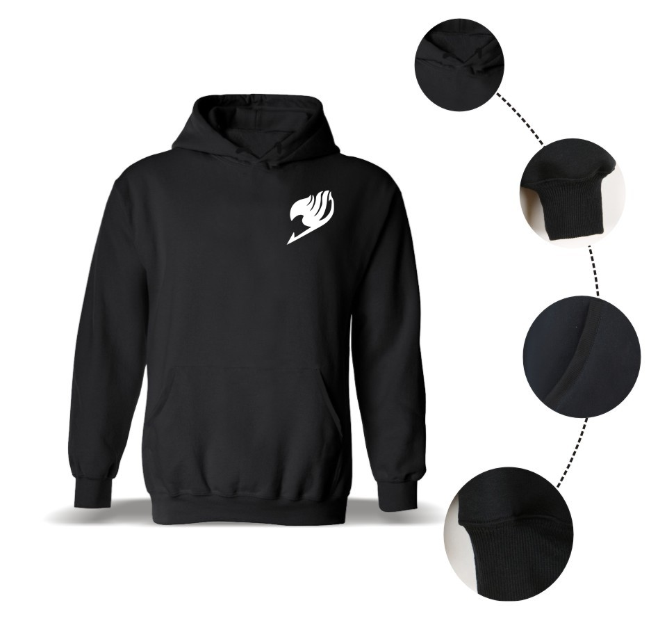 Fairy Tail Hooded Winter Hoodies Men's Casual Funny Sweatshirt Male Hip Hop Classic Anime Fashion Clothes