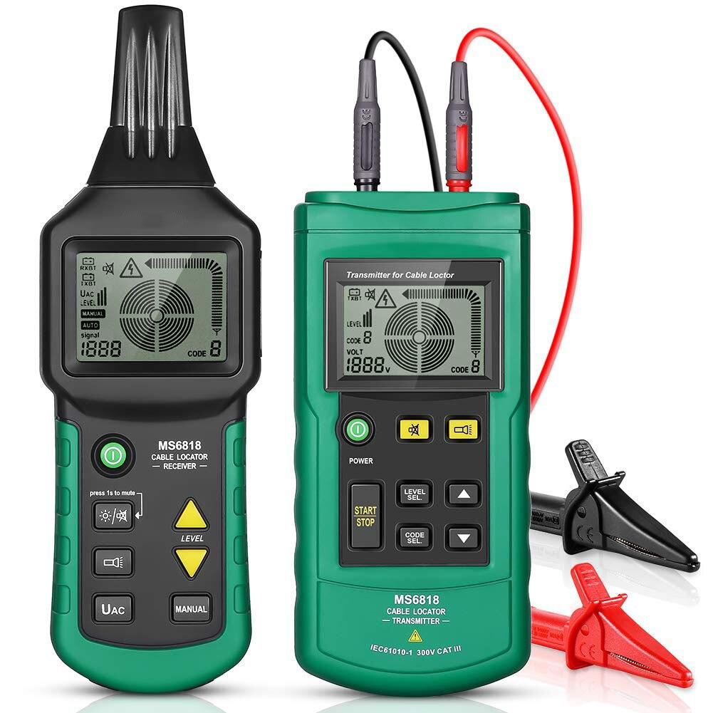 MS6818 портативный кабель для проверки проводов, портативный телефонный кабель локатор, подземный детектор труб, тонер Искатель кабелей