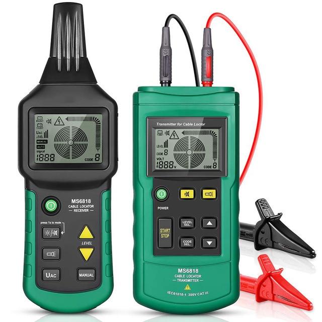 MS6818 Draht Tracker Test Kabel Netzwerk Tragbare Telefon Kabel Locator Unterirdischen Rohr Detektor Kabel Toner Finder