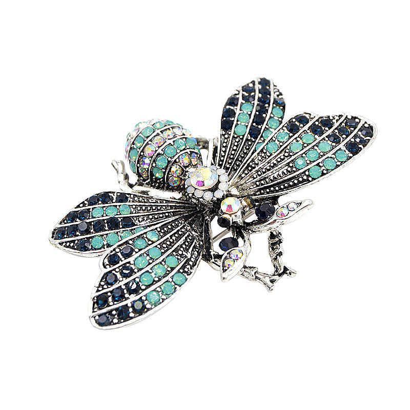 W stylu Vintage kryształ górski Vintage Big Bee broszki letni płaszcz akcesoria moda biżuteria dobry prezent