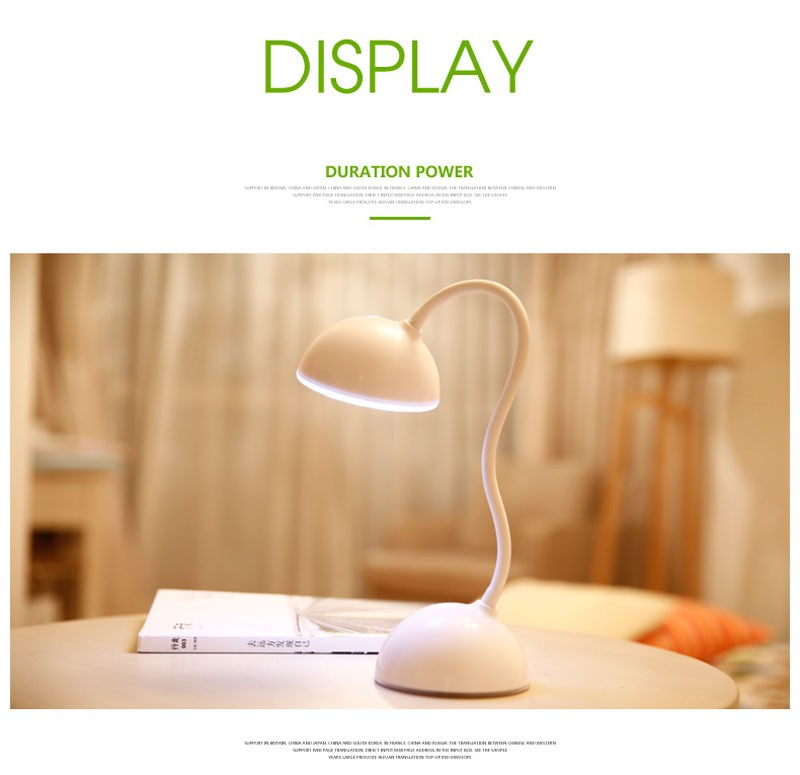 LED Light Table Desk Lamp Touch Sensor USB Rechargeable Reading Lamps