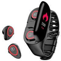 Nowy inteligentny zegarek ze słuchawkami Bluetooth douszny zegarek sportowy tętno długi czas nadgarstek słuchawki douszne samsung zegarek huawei