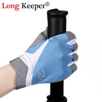 Long Keeper Men Summer Semi Finger Gloves Female Gym Gloves Bicycle Anti Skid Breathable Guantes Sports