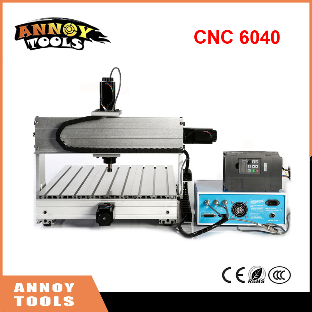 CNC 6040 800W 1500W 2200W 3 Axis CNC Engraving Machine Engraving PVC Three-axis Plane Engraving Machine Wood Carving Machine 3 axis cnc machine 3040 cnc 800w usb port metal engraving machine with water sink