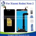 Original para xiaomi redmi note 2 display lcd + touch screen digitador assembléia peças de reposição preto + ferramentas + adhensive