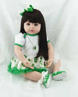 60cm Lifelike silicone vinyl reborn baby toddler dolls toy simulated doll hight quality birthday gifts bedtime sleeping toy