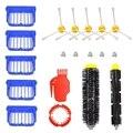Запасные части для Irobot Roomba 650 655 660 620 630 645 вакуумов  1 шт. Гибкая щеточная щетка  1 шт. щеточная щетка  5 шт. фильтр