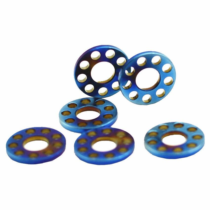 Titanium Washer for Motorcycle Modification M6 M8 M10 O Ring Hollow Titanium Gasket Gold Steel Ti Washers Ti Fastener DIY 4 pcs