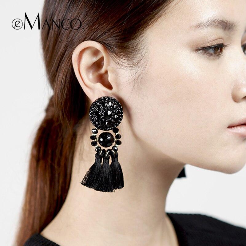 Black Earrings Women Double Side Pearl Earrings Women ...