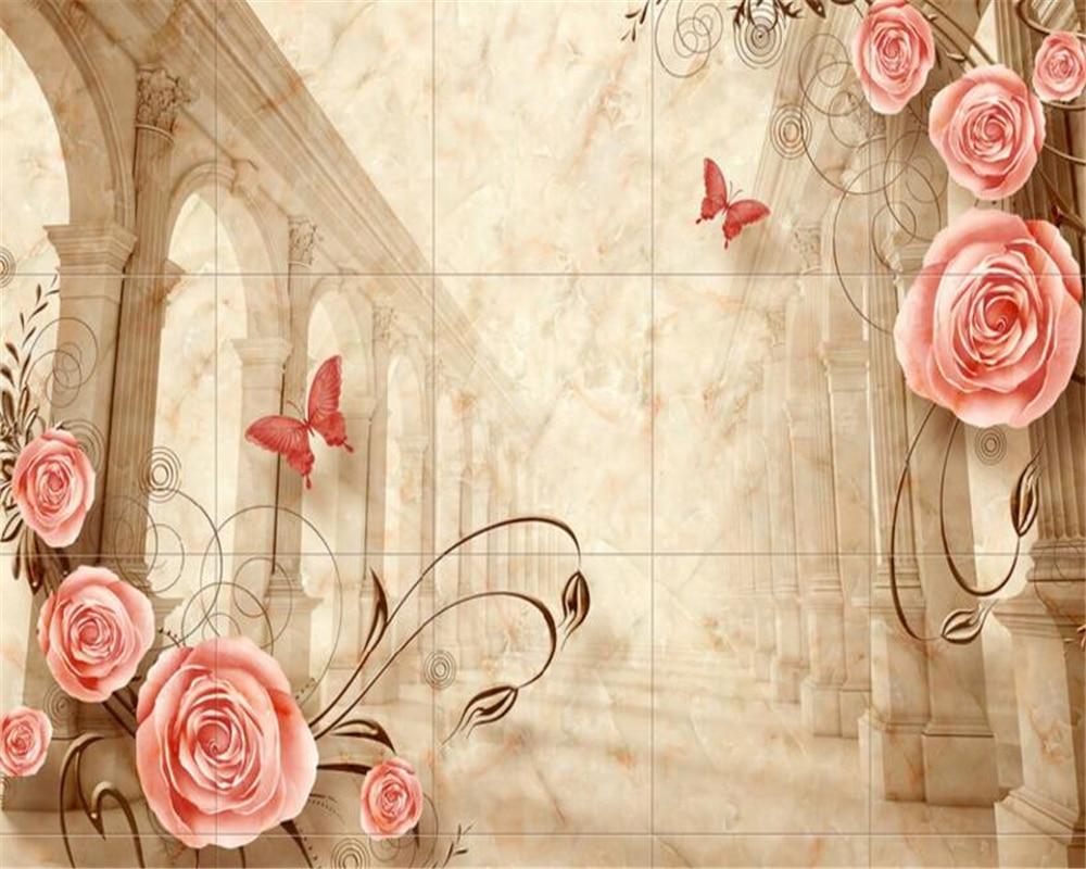 Beautiful Wallpaper Marble Heart - Beibehang-3d-Wallpaper-Marble-European-Roman-Pole-Rose-Retro-Tile-TV-Background-Living-Room-Bedroom-Mural  Best Photo Reference_41885.jpg