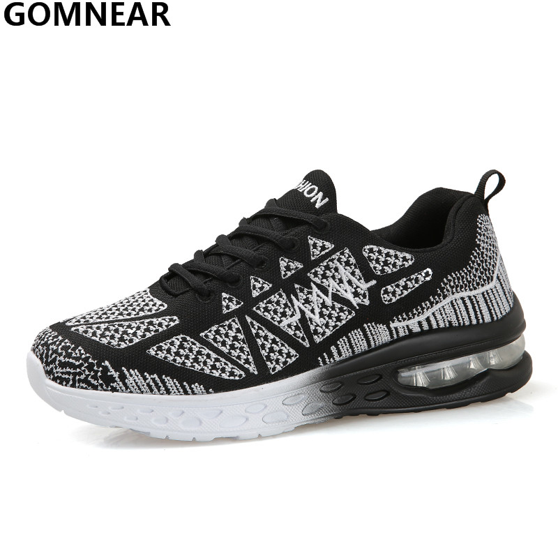 GOMNEAR Men's Sport Running Shoes Outdoor Breathable Cushioning Jogging Sneakers Men Colorful Training Spring Athletic Trainers 2017brand sport mesh men running shoes athletic sneakers air breath increased within zapatillas deportivas trainers couple shoes