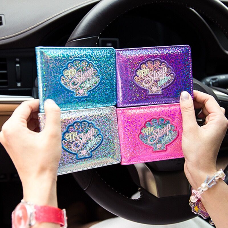 Laser-Card-Bags Bentoy Credit-Card Milkjoy Driver's Id-Holders License New Korea Shell