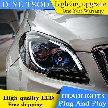 Car Styling Headlights for Encore 2013-2015 LED Headlight for Encore Head Lamp LED Daytime Running Light LED DRL Bi-Xenon HID