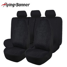 Conjunto de fundas de asiento de coche Universal para la mayoría de los asientos de coche, accesorios interiores, cubiertas de asiento, estilo de coche, negro/gris/rojo/azul/Beige