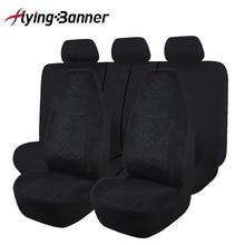 Tam araba koltuğu kapakları evrensel en uygun araba koltukları iç aksesuarları koltuk kapakları araba Styling siyah/gri/ kırmızı/mavi/bej