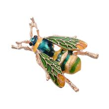 imixlot Insect Bumble Bee Brooch for Women Kids Girls bee jewelry Gold Color Yellow Green Enamel Brooches Jewelry bumble