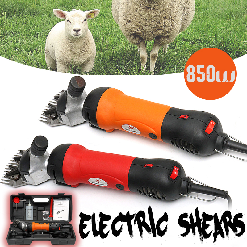 850W Electric Sheep Shearing Clipper Scissors Shears Cutter Goat Horse Clipper Machine 13 teeth blade 220V 240V 6 Gears Speed