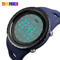SKMEI 1246 Men Double Time Watches Sports Countdown LED Light Digital Wristwatches 50M Waterproof Relogio Clock