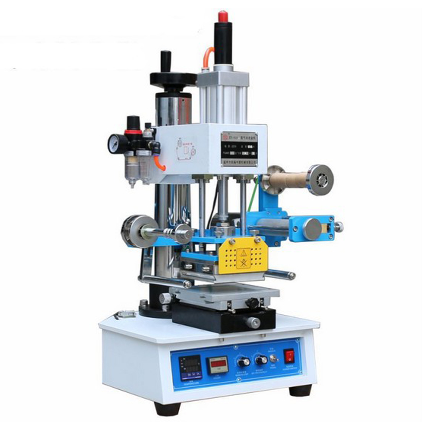 1set  Pneumatic hot stamping machine Leather embossing LOGO Branding machine Hot mark machine Bronzing machine ZY819-H2 hot stamping machine hot foil pneumatic stamping press logo printer for leather paper etc customized printable area zy 819b