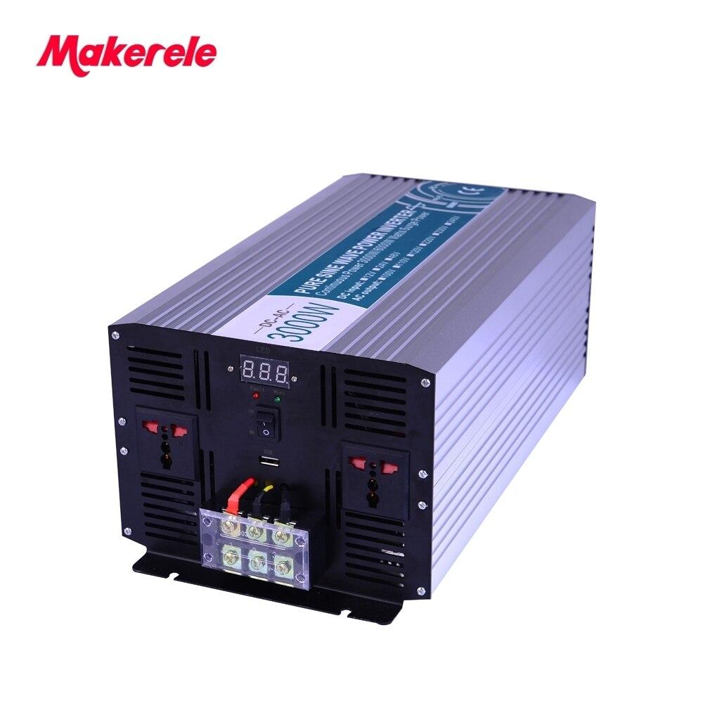 цена на inverter 24v 120v 3000w MKP3000-241 24vdc to 110vac off grid solar power pure sine wave Output Universal makerele