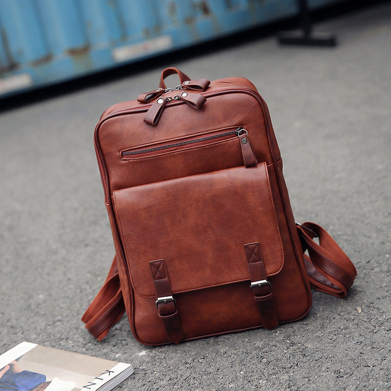 Fashion PU Man Women Travel Laptop Backpack For Macbook Air Pro 11 12 13 15 Retina Laptop HandBag For Lenovo HP School Bag